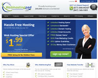 WebHostingPad Website