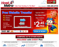 HostMetro Website