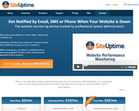 SiteUptime website